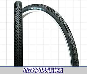 IRC CITY POPS 超快適 27×1- 3/8  ブラック/ブラック【日本製タイヤ】1ペア(タイヤ・チューブ各2本組)