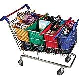 Trolley Bags Original Reusable Shopping Bags, 4-Pieces, Multicolour