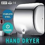 1 の手の乾燥機ヘビーデューティ業務用 1800 W ハンドドライヤ高速 90 m / 部分 s 自動バスルームの家のためのハンドドライヤーステンレススチール