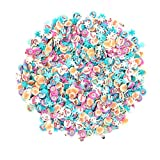 Minkissy 3000pcs Christmas 3D Nail Art Polymer Clay Slices Snowflakes Santa Claus Elk Nail Art Tips Decoration Nails Stickers For Sticking to Slime and Nail Art