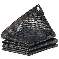 WYKLHAO オーニングシェード遮光ネット日焼け止めポリエチレン材料黒日焼け止めクールダウン四隅バルコニー、24サイズ (Color : Black, Size : 4x6m)