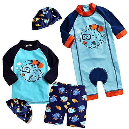 monoiiベビー水着男の子赤ちゃん水着ベビーラッシュガード水着子供帽子付b331