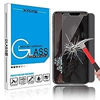 Hadari iPhone X/XS 5.8 インチ 覗き見防止ガラスフィルム 強化ガラス液晶保護フィルム スマートフォン 6Dラウンドエッジ加工 硬度9H・防塵・指紋防止・気泡防止・自動吸着(1枚パック)