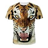 女子怒っているタイガーTシャツ最新のアニマルデザイン夏の半袖シャツトップス