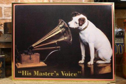 アメリカンブリキ看板 ビクター犬 / ABSIGNHMV