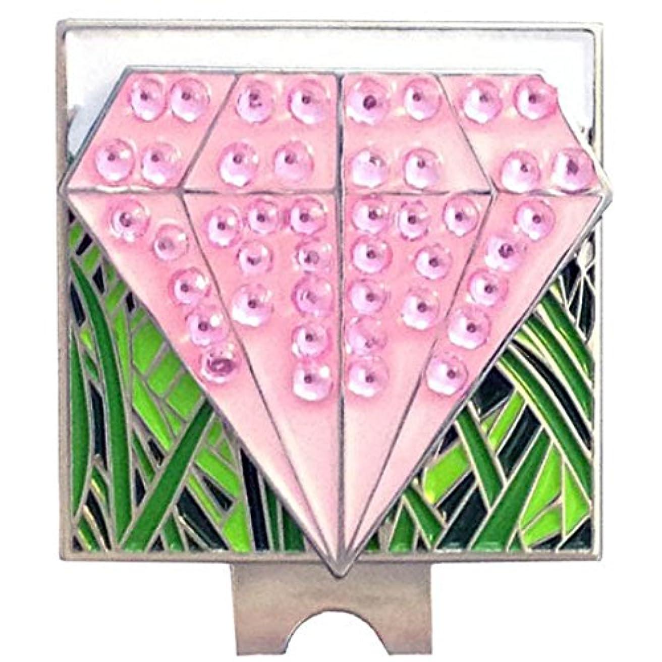 触手リズムデコレーションGiggleゴルフ – キラキラ光るピンクダイヤモンドボールマーカー& Rough帽子クリップ