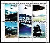 UFO(未確認飛行物体)の切手/カルミキア2000年6種連刷シート 宇宙