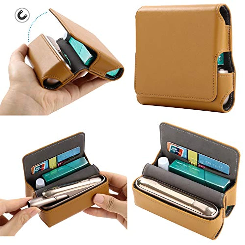 酸度腐ったリハーサルBeststartjp IQOS 3 アイコス3 ケース カバー 高品質PUレザー マグネット吸着 カード入れ 折りたたみ マルチ 新型 持ち運び 衝撃対応 メンズ レディース (ブラウン)