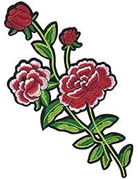SONONIA 刺繍パッチ 飾り パッチ レース 花柄 アップリケ 縫製用品 刺繍飾り 工芸品 全7色 - パターン5