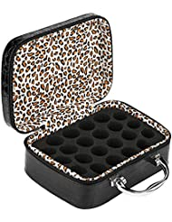 Salinr アロマポーチ エッセンシャルオイル ケース 携帯用 エッセンシャルオイル収納ボックス アロマケース ボックス 香水収納ケース 15ml アロマオイル収納ボックス 22本用