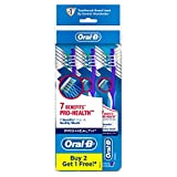 Oral-B CrossAction Pro-Health 7 Benefits Toothbrush, Medium, 3ct (Colors may vary)