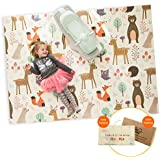 "Infant Shining Baby Play Mat, 58""x78"",0-6 Years Old Baby,Foldable Mat, Waterproof and Antislip Mat (58in*78in, Happy Zoo)"