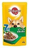ペディグリー シニア犬 7歳から用 ビーフ&緑黄色野菜 130g×10個入り [ドッグフード・パウチ]