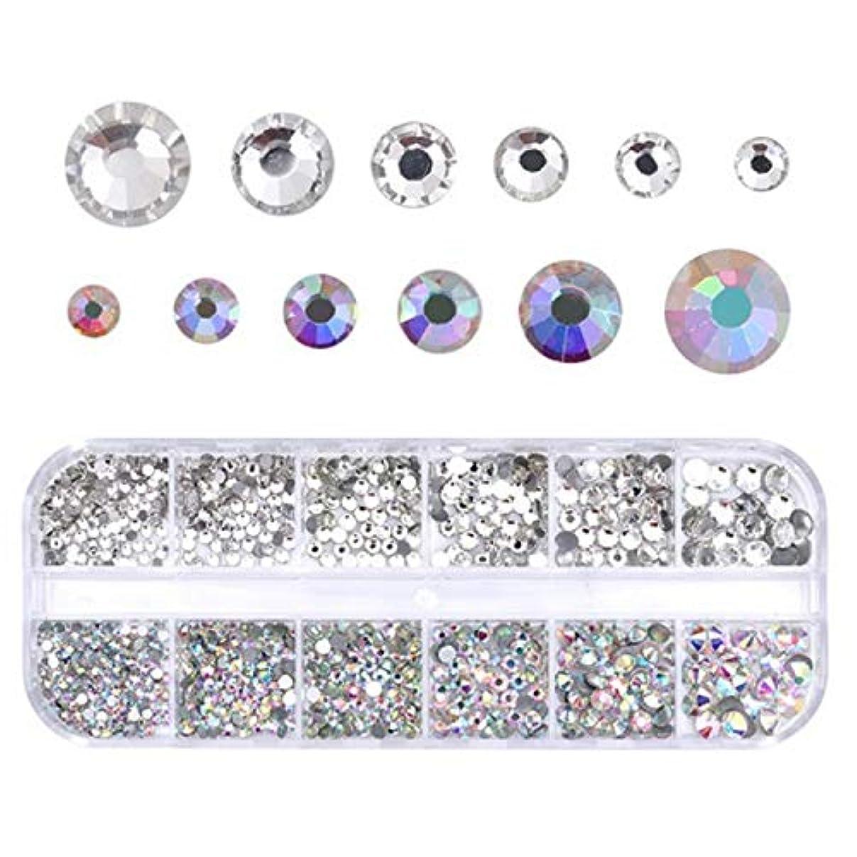 検査枯渇する先住民Migavann 12-Grids ネイルアートラインストーン ネイルクリスタルフラットバックラインストーンクリアガラスチャーム宝石ストーンダイヤモンド