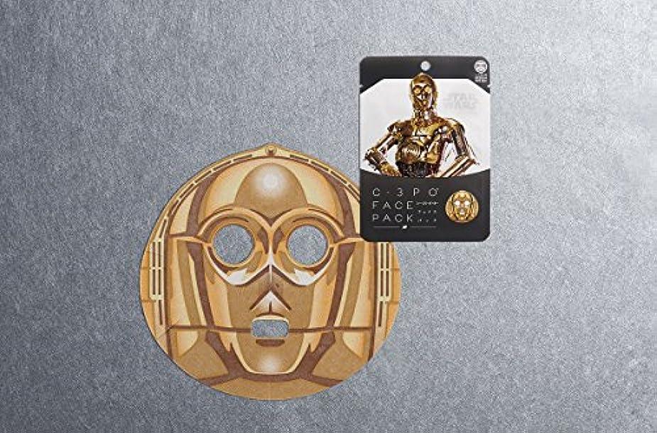 死にかけている塗抹派生するターウォーズフェイスパック 「C-3PO」
