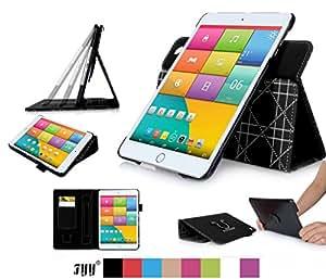 iPad Mini3 ケース iPad Mini2 ケース iPad Mini ケース,Fyy® 100%手作り 高級PUレザーケース 高品質 スリムケース カード収納/ペンホルダ/スタンド機能付き マグネット開閉式 360度回転可能 &解体可能タイプ ブラック