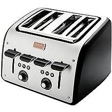 Tefal Avanti 4 Slot Toaster TT770860 Black with 7 Customized Programs