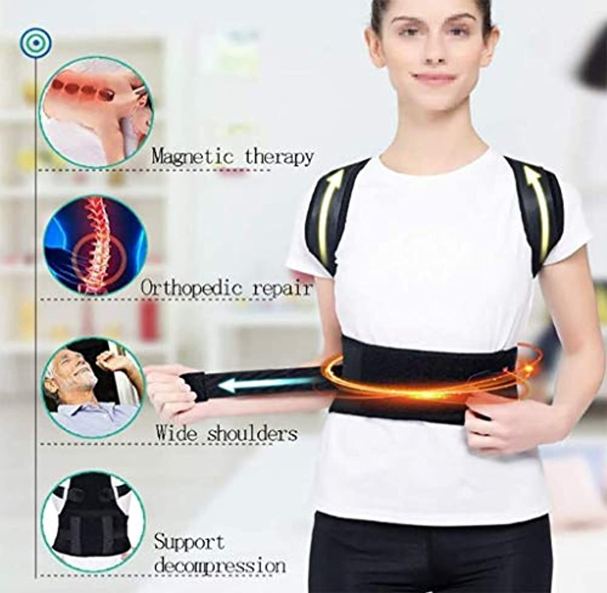 基準意見小さい背中のサポート、正しい姿勢、悪い姿勢の改善、気質の改善、痛みの緩和、ハンチバックの防止、休息/仕事/スポーツに適しています (Color : S)