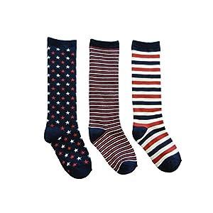 3足組子供靴下ハイソックス 15cm - 20cm