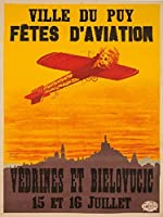 Fetes d 'aviation–Ville Du Puyヴィンテージポスター(アーティスト: Goth )フランスC。1911 12 x 18 Art Print LANT-62211-12x18
