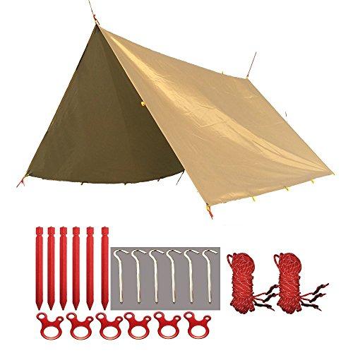 FLYFLYGO 天幕シェード 防水タープ タープUV 日焼け紫外線カット 多機能タープ 超軽量携帯便利タープセット
