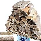 [メロウストア] 樫の木 25kg 広葉樹乾燥薪 薪王 大割 中割 小割 ころころ薪 四国四万十 ワンサイズ,中割薪
