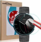 ShineZone モトローラ Moto 360 Watch 専用強化ガラスフィルム 0.3mm 表面硬度9H 飛散防止処理 2枚パック
