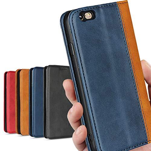 iPhone 6plus 6sプラス 6+ 6s+ スマホ ケース 2色組合せ 二色接合 手帳型 iPhone6 plus ケース CASE アイフォン6plus プラス ケースカバー iCoverCase 高質合成皮革 内蔵マグネット 携帯カバー カードポケット スタンド機能 シンプル カバー クラシック 落ち着いた色 軽量 便利 レトロ ブルー