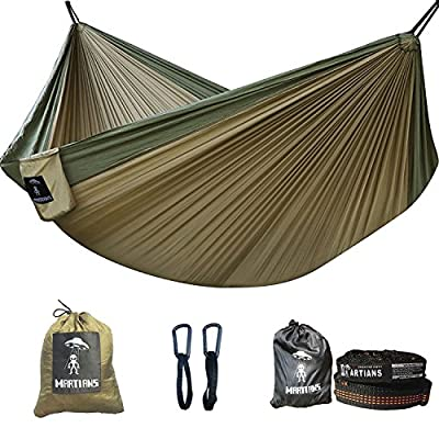 Camping Hammock- Easy Hanging Double Hammock with Tree Straps&Carabiners, 600lbs