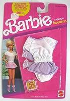 バービーファッションFavoritesホワイトTop withパープルスカートand Socks