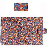 クリエイティブオックスフォード布ピクニック毛布屋外折りたたみビーチマットピクニックマット防水サンドキャンプキャンプハンドルピクニック敷物マット200 * 150センチ