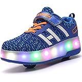 [cool light] LED靴 ローラーシューズ ローラー靴 LEDスニーカー 光る靴 発光靴 LEDライト付き 子供/大人共用 男女兼用 両輪タイプローラーシューズ シューズ