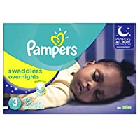 Pampers Swaddlers Overnights Diapers Size 3, 72 Count by Pampers