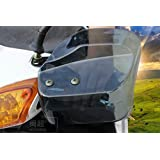 バイク スクーター 汎用 ナックルガード TYPE2 スモーク バイザー ハンドガード ハンドルカバー 風防 雨除け 防寒対策