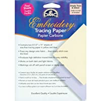 DMC U1541 Embroidery Tracing Paper, Yellow/Blue, 4-Sheets [並行輸入品]