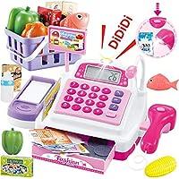 SONiKi レジスターおもちゃ お買い物レジスター お会計 女の子 ピンク