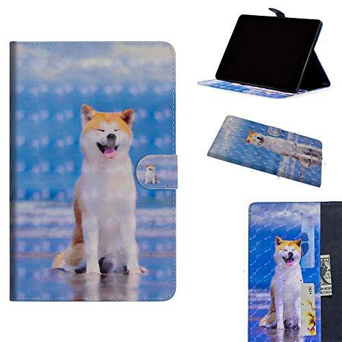 DodoBuy Samsung Galaxy Tab S4 10.5 ケース 3D 手帳型カバー 革 マグネット式ド収納 スタンド機能 財布型 カード収納 おしゃれ フリップ磁気閉鎖 ために Samsung Galaxy Tab S4 10.5 - 犬