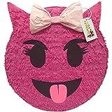 Pink Sneaky Emoticon Pinata 41cm