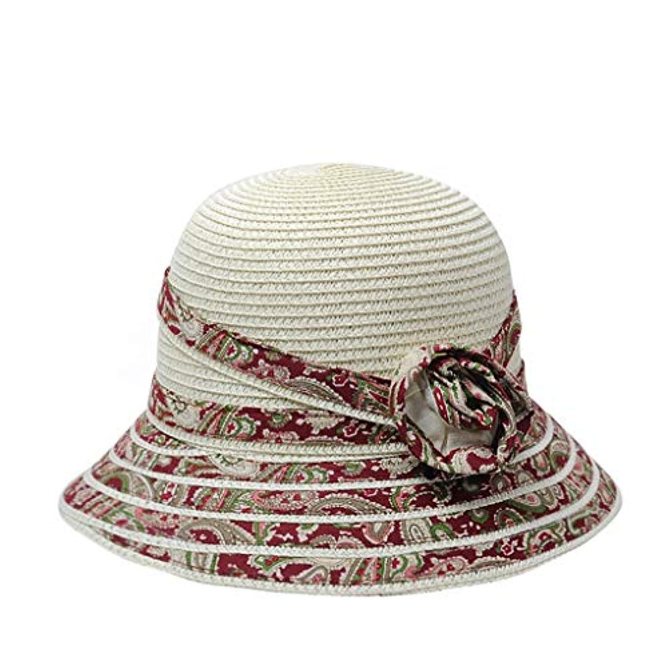 驚かすコーチ重要な役割を果たす、中心的な手段となる日よけの帽子女性の夏の涼しい帽子韓国語版はまだ日曜日の保護日曜日の帽子ビーチの帽子折りたたみの花の流域の帽子麦わら帽子 (Color : C)