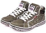 (エドウィン) EDWIN 子供靴 軽量 ハイカットスニーカー キッズ 男の子 ジュニア カジュアル EDW-3545 カーキ 22.0