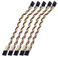 Perfk ジャンパー線 メスコネクタ Arduinoブレッドボード用  5本セット  PVC 4-Pin デュポンケーブル