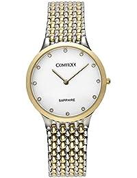 Comtex 腕時計 レディース ステンレス バンド アナログ表示 クオーツ ウオッチ 女性時計 ゴールド