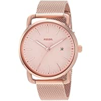 Fossil Women's ES4333 Commuter Analog Quartz Rose Gold-Tone Watch