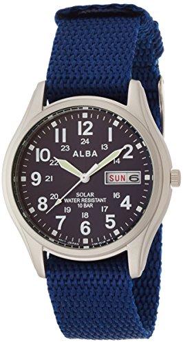 [セイコーウォッチ] 腕時計 アルバ ソーラー 日付・曜日表示付き ハードレックス ナイロンバンド AEFD556 メンズ