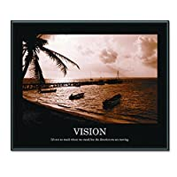 ADVANTUS Framed Motivational Print Vision Sepia-Tone 30 x 24 Inches Black Frame (78163) 【Creative Arts】 [並行輸入品]