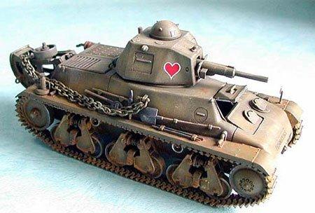 ブロンコモデル 1/35 フランス オチキス H38/39 軽戦車 プラモデル CB35001
