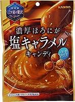 カンロ 濃厚ほろにが塩キャラメルキャンディ 70g×4袋