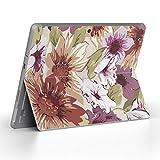 Surface go 専用スキンシール サーフェス go ノートブック ノートパソコン カバー ケース フィルム ステッカー アクセサリー 保護 フラワー 花 リーフ 000749