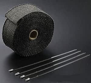 BlueField サーモバンテージ 長さ 5m 黒色 セラミック繊維 結束バンド4本付