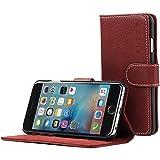 英国Snugg iPhone6/6s用 PUレザー手帳型ケース エグゼクティブタイプ 生涯補償付き(ダストシダー・レッド)